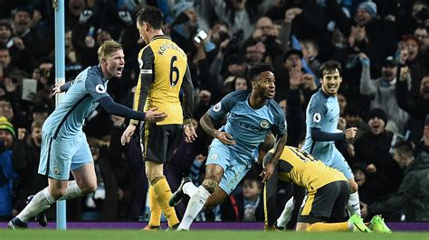 arsenal vs manchester city man city 2 1 arsenal match report highlights