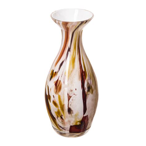 traditional shaped vase in white brown and