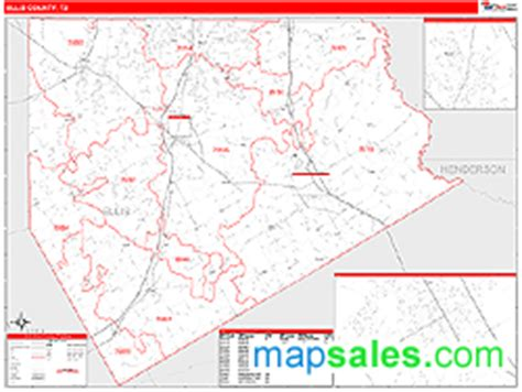 ellis county texas map ellis county tx zip code wall map line style by marketmaps