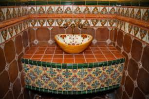 Mexican Tile Bathroom Designs by Mexican Tile Bathroom By Clay Imports
