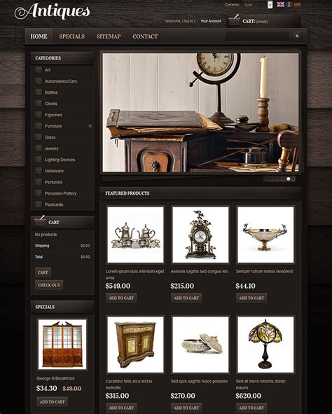 photo themes online ecommerce templates and themes for online antique store