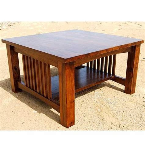 solid wood mission style square coffee table furniture