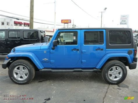 Hydro Blue Jeep 2014 Jeep Wrangler Unlimited Sport 4x4 In Hydro Blue Pearl