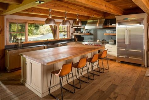 lovely kitchen interiors designed   rustic style
