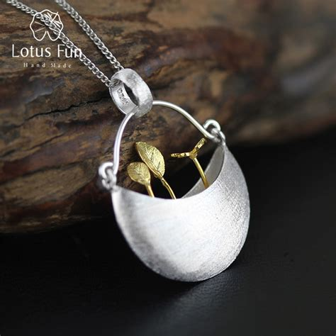 Handmade Sterling Silver Jewelry Designs - lotus real 925 sterling silver handmade jewelry