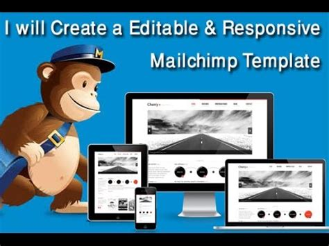 Responsive Mailchimp Template Mailchimp Newsletter Youtube How To Create A Mailchimp Template