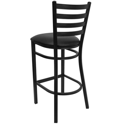 Black Bar Stools With Back Support by Black Ladder Back Metal Restaurant Barstool With Black