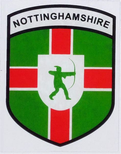Nottinghamshire Flag Car Sticker nottinghamshire county flag car sticker shield self cling