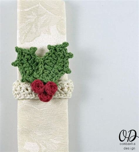 free pattern for christmas napkins holiday crochet napkin ring patterns boots and holiday