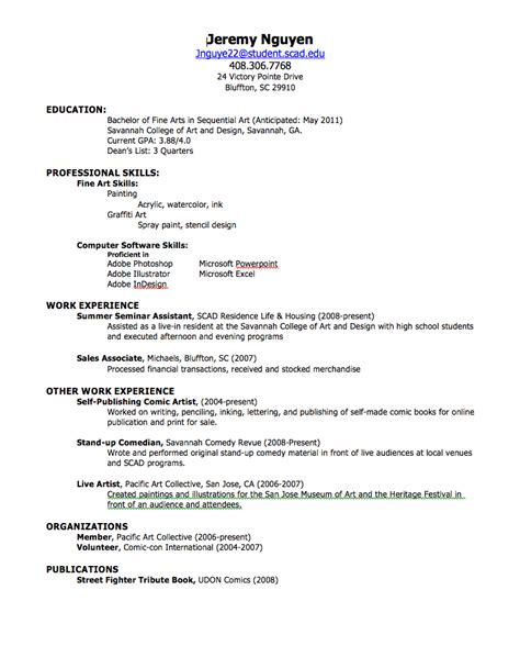 Resume High School by High School Student Resume No Experience