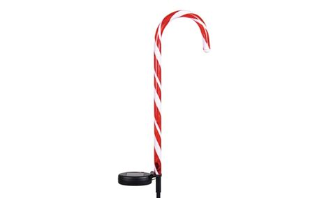 solar candy cane stakes 2 pack groupon goods
