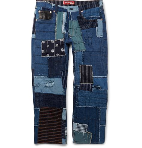 Levi S Patchwork - junya watanabe levi s patchwork denim in blue for