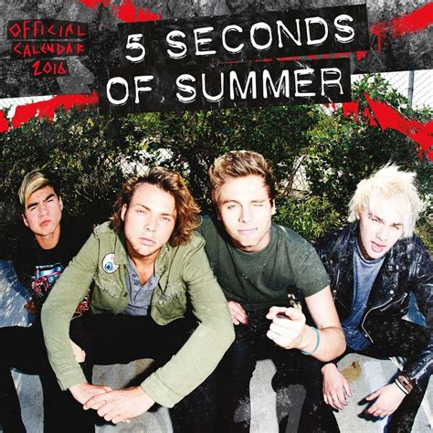 5 Seconds Of Summer Calendar 5sos S Official 2016 Calendar S Here And It S Beautiful