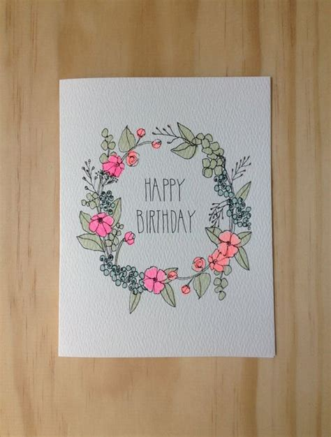 Designs For Birthday Cards Floral Wreath Birthday Card Design Cards Birthdays And