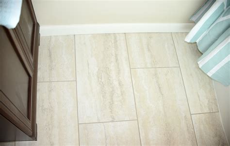 groutable vinyl tile in bathroom follow this flip bathroom before and after living rich