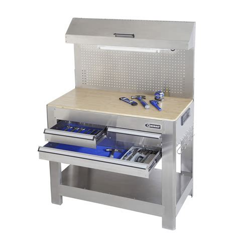 Kobalt Tool Bench shop kobalt 45 in w x 36 in h 3 drawer wood work bench at lowes