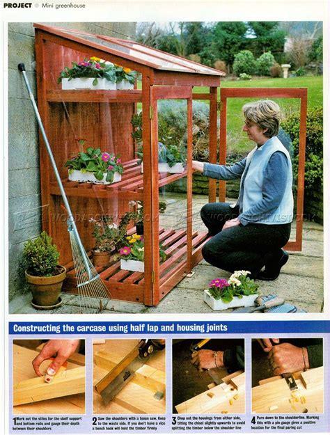 mini greenhouse plans woodarchivist