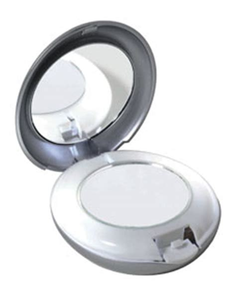 compact mirror with light tweezerman led lighted 10x 1x compact mirror