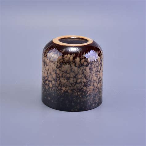 Handmade Jars - handmade bottom ceramic spots candle jar