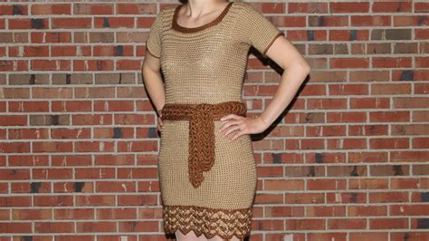 How To Dress On A by How To Crochet A Dress Tutorial With Detailed
