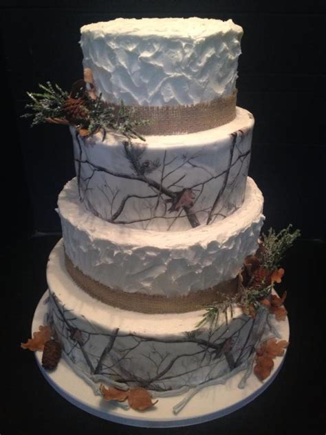edible cake decorations commercial cake decorations lucks winter camouflage wedding cake all accents are gumpaste
