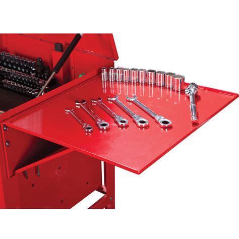 harbor freight side locker shelves tool cart folding side tray