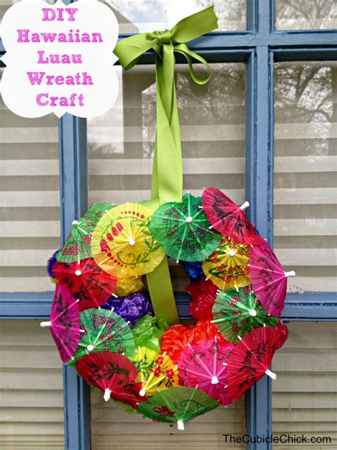 luau crafts for diy hawaiian luau wreath