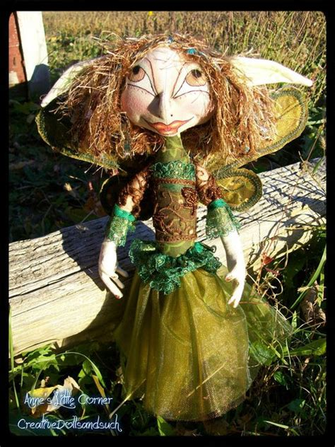 doll wire cloth doll ooak pixie textile fabric collectible