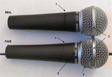 Original Shure Mic Sm58 comparison of a genuine shure sm58 microphone and a