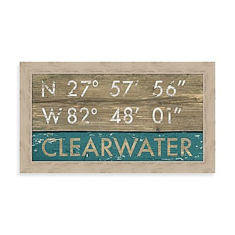 bed bath and beyond clearwater fl buy clearwater florida coordinates framed wall art from