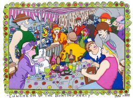 biografi lukisan luncheon of the boating party james rizzi bilder 3d grafik