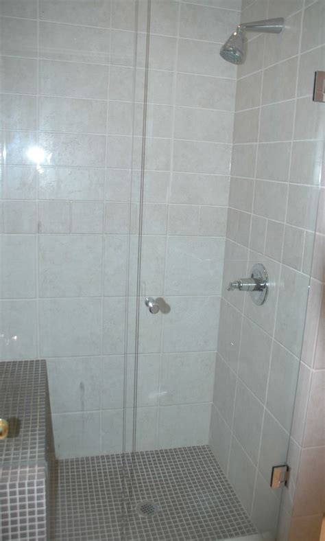 built in shower glass shower with built in seat bathrooms pinterest