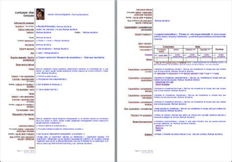 Mod Les De Lettre En Espagnol cv europ 233 en europass espagnol modele lettre