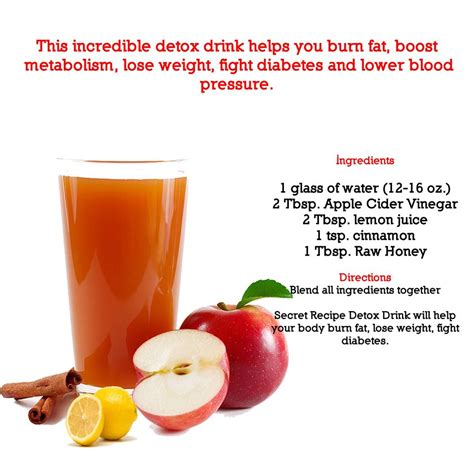 Apple Cider Vinegar Detox Drink Side Effects by Burn Boost Metabolism Lose Weight Fight Diabetes