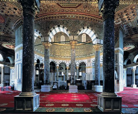 Dome Of Rock Interior by Souvenir Chronicles Jerusalem Temple Mount