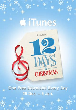 apple christmas giveaway 12 days 12 free downloads on itunes - Itunes Christmas Giveaway