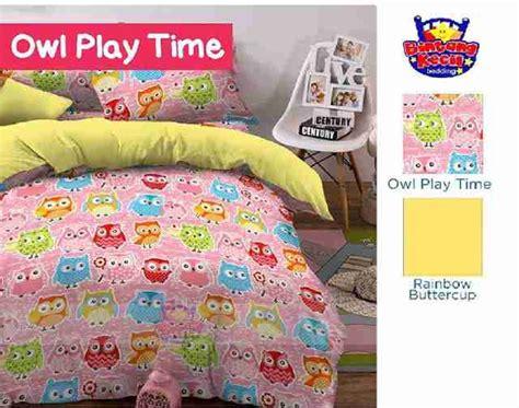 Grosir Dan Ecer Bedcover Owl 120 X 200 Murah detail produk sprei dan bedcover owl play pink toko bunda