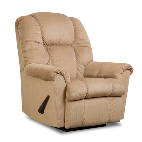 franklin chairs recliners 7527 ruben rocker recliner tan brown franklin