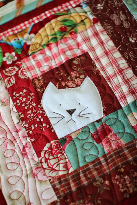 Patchwork Designs For Beginners - cat potholder by laurraine yuyama patchwork pottery