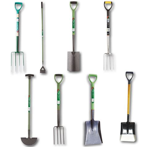 kingfisher garden tools forks hoe spade edging shovels