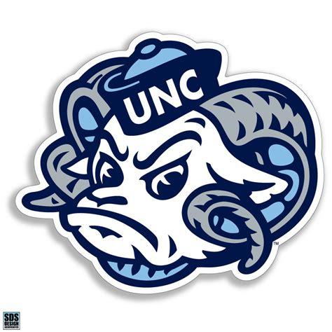 unc university of north carolina large ram logo 12 quot unc ram head vinyl decal wesellspirit com
