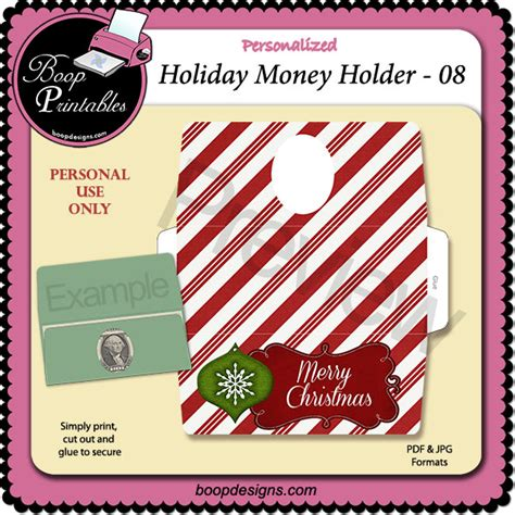 printable christmas money holders holiday money holder 08 by boop printable designs bp