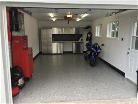 Portes de garage   Enduit à l?époxy sur le plancher du