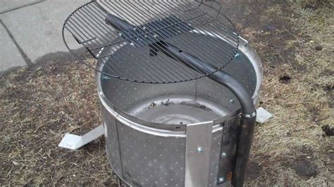 stainless steel washer drum pit with grill