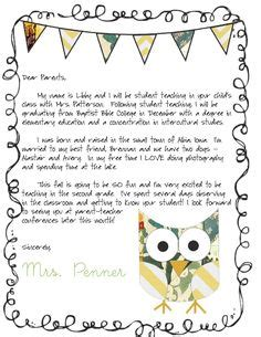 Character Parade Letter To Parents student teaching fall 2014 on student