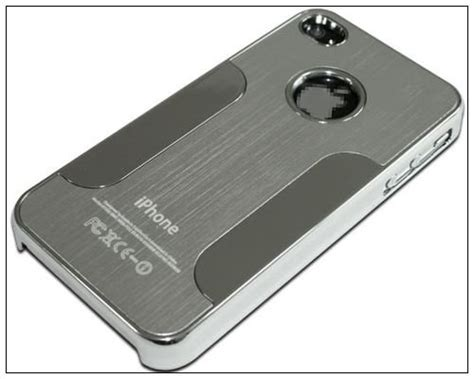 premium chrome aluminum skin back cover for apple iphone 4 4g 4s silver 4 14 cell