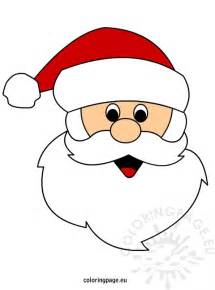 santa claus template free coloring pages of mask of santa claus