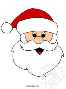 Santa Claus Template santa claus mask outline new calendar template site