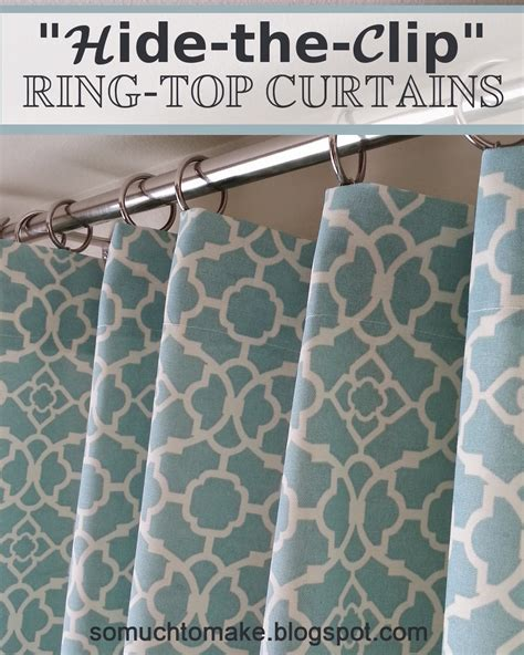 how to sew curtains with rings quot hide the clip quot ring top curtains window living rooms