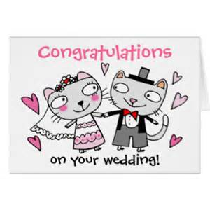 Congratulations On Your Wedding Cards Cat Bride And Groom Cards Cat Bride And Groom Card Templates Postage Invitations Photocards